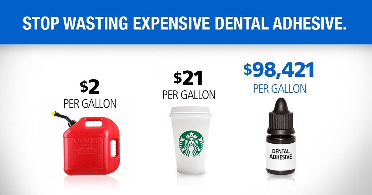 Stop Wasting Expensive Dental Adhesive