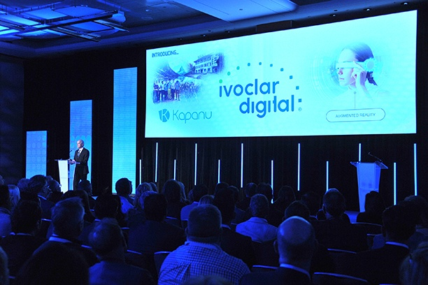 Robert Ganley presenting Ivoclar Digital